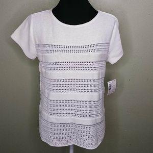 Vintage Lizsport Short Sleeved Sweater Top M NWT
